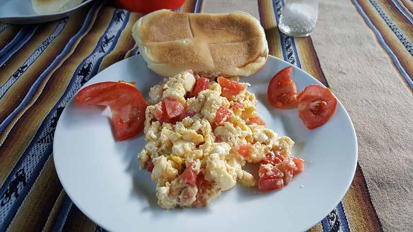 Desayuno en Collpapampa