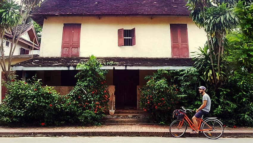 bici en Luang Prabang