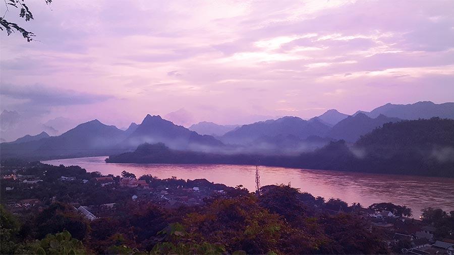 Atardecer desde Phou Si