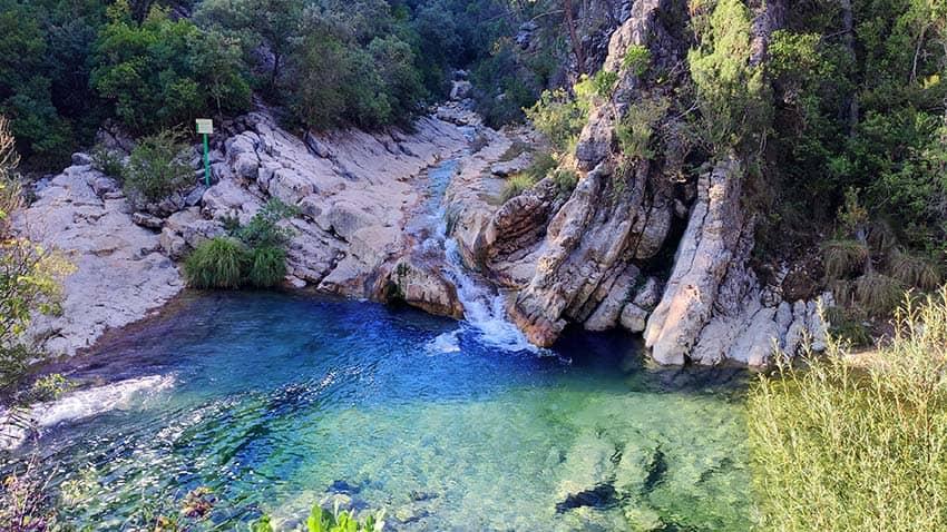 inicio ruta rio borosa jaen