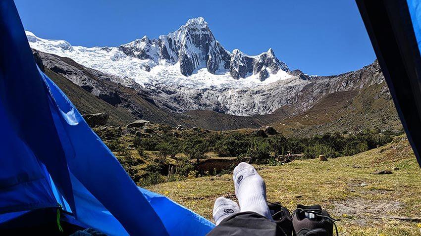 equipo de acampada de trekking