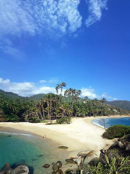 Parque Tayrona playa cabo san juan