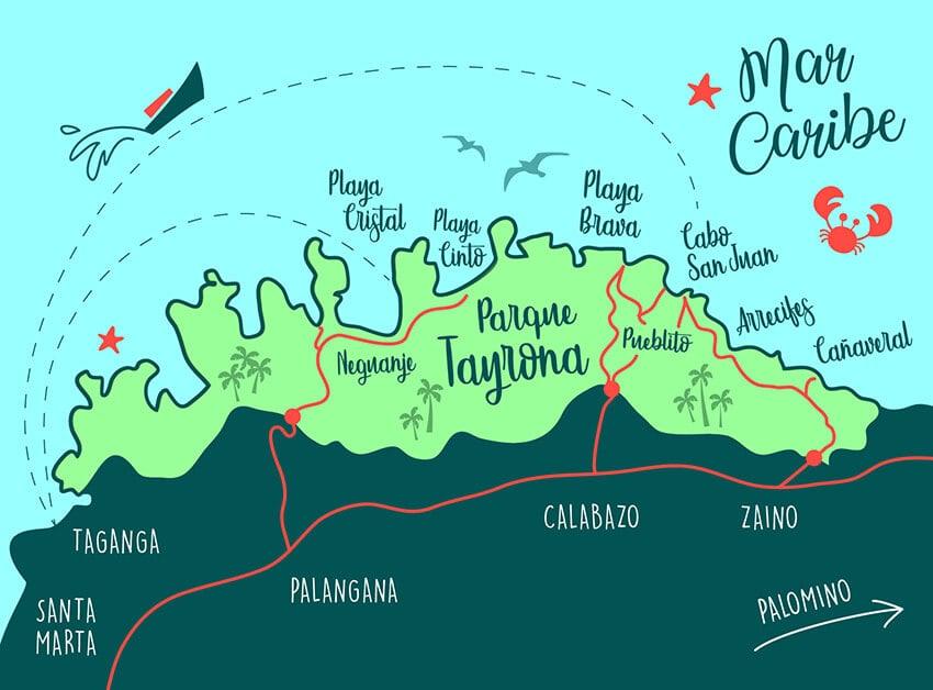 mapa de tayrona